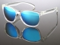 Mobile Preview: Wayfarer Sonnenbrille Blau