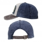 "Preview: Base CAP Vintage-Retro - grau, blau, weiß ""MOTORS RACING TEAM"""