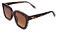 Mobile Preview: Modische Sonnenbrille GAGASTYLE Braun