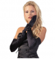 Preview: Satin Stretch Handschuhe schwarz