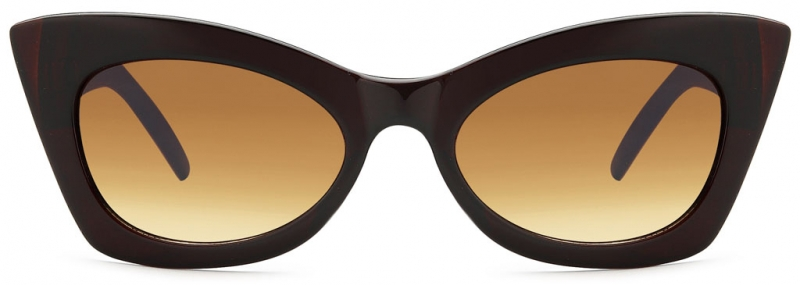 Modische Cat Eye Sonnenbrille Braun